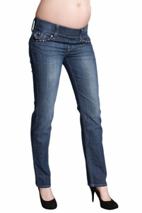 SOLD OUT Maternal America Studded Slim Maternity Jeans