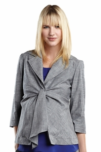 Maternal America Summer 3/4 Sleeve Maternity Front Tie Blazer