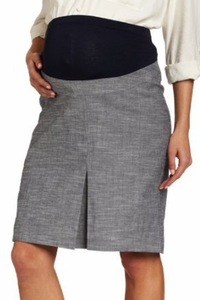 Maternal America Summer Front Pleat Maternity Skirt