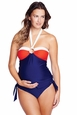 Maternal America Tina O Ring Tankini Maternity Swimsuit