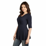 TEMPORARILY OUT OF STOCK Maternal America Tummy Tuck Compression Nursing Top With Sleeves