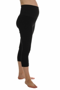 Maternal America Tummy Tuck Post-Natal Compression Cropped Leggings