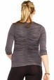 Maternal America V-Neck Ruched Back Maternity Top