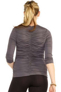 SOLD OUT Maternal America V-Neck Ruched Back Maternity Top