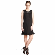 SOLD OUT Maternal America Vegan Leather Yoke Maternity Dress