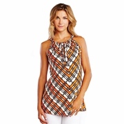 Maternal America Wire Print Halter Maternity Top
