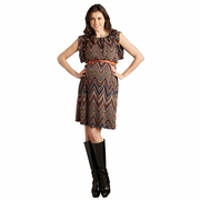 Maternal America Ziggy Print Belted Kimono Maternity Sweater Dress