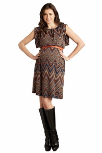 SOLD OUT Maternal America Ziggy Print Belted Kimono Maternity Sweater Dress