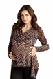 Maternal America Ziggy Print Maternity And Nursing Wrap Sweater