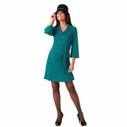 Maternite Bell Sleeve Cowl Neck Maternity Sweater Dress