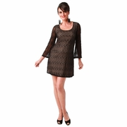Maternite Bell Sleeved Lace Maternity Cocktail Dress