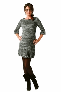 Maternite Boat Neck Jersey Knit Dress