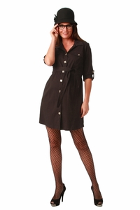 Maternite Button Front Maternity Shirt Dress