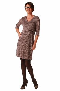 Maternite Jersey Knit V Neck Maternity Dress