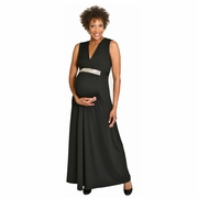Maternite Jeweled Maternity Maxi Dress Evening Gown