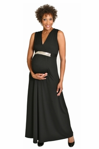 SOLD OUT Maternite Jeweled Maternity Maxi Dress Evening Gown
