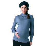 Maternite Keyhole Mock Turtleneck Maternity Top