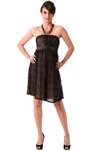 Maternite Lace Maternity Tube Cocktail Dress