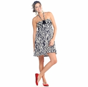 Maternite Short Halter Maternity Dress