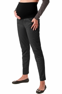 Maternite Slim Leg Twill Maternity Pants