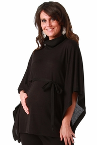 Maternite Turtleneck Maternity Poncho Sweater
