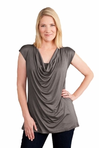 Milkstars Jolie Drape Neck Maternity And Nursing Top