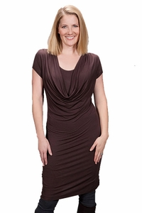 Milkstars Randa Cowl Neck Nursing Dress