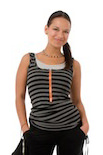 Molly Ades Zippered Maternity And Nursing Tank