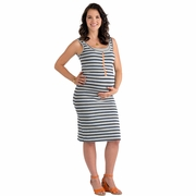 Molly Ades Zippered Maternity Nursing Tank Dress