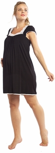 SOLD OUT Moody Mamas Cap Sleeve Nursing & Maternity Nightgown