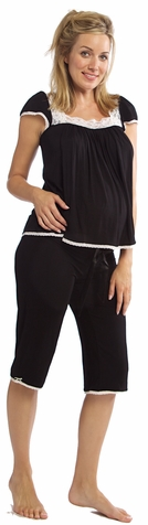 SOLD OUT Moody Mamas Cap Sleeve Nursing & Maternity Pajama Set