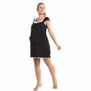 Moody Mamas Maternity Nursing Cap Sleeve Night Gown