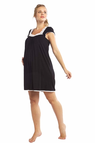 SOLD OUT Moody Mamas Maternity Nursing Cap Sleeve Night Gown