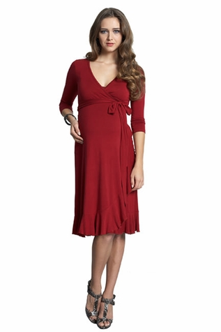 SOLD OUT Mothers En Vogue Flamenco Maternity And Nursing Wrap Dress