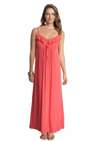 SOLD OUT Mothers en Vogue Frills & Grace Maternity And Nursing Maxi Dress