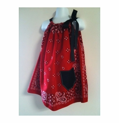My Funky Little Monkey Grow With Me Bandana Pillowcase Dress