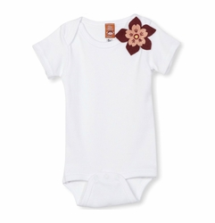 My Funky Little Monkey Long Sleeve Flower Bodysuit