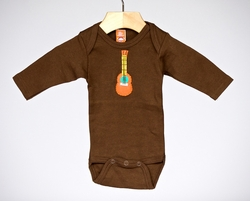 My Funky Little Monkey Long Sleeved Gutiar Bodysuit