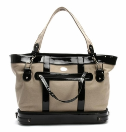 SOLD OUT Nest Canvas Diaper Bag Tan/Black