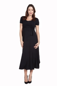 SOLD OUT Nom Cammie Long Maternity Wrap Dress