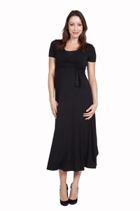 Nom Cammie Long Maternity Wrap Dress