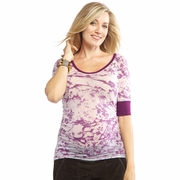 SOLD OUT Nom Eden Burnout Maternity Tee - FINAL SALE