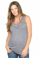 NOM Ellie Burnout Maternity Tank Top