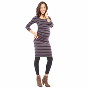 Nom Ellie Form Fitting Side Ruched Maternity Dress