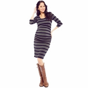 SOLD OUT Nom Ellie Form Fitting Side Ruched Maternity Dress