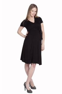 Nom Estelle Knee Length Maternity Wrap Dress