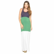 NOM Gigi Color Block Maternity Maxi Dress