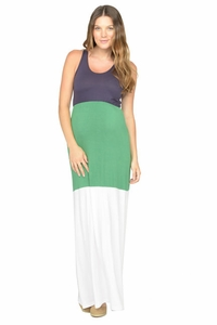 SOLD OUT NOM Gigi Color Block Maternity Maxi Dress