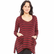 Nom Harlow Asymmetrical Striped Tunic