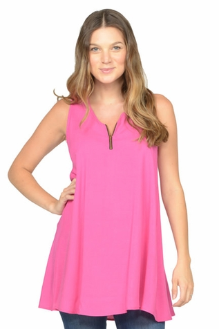SOLD OUT NOM Maternity Kate Zipper Detail Tank Top